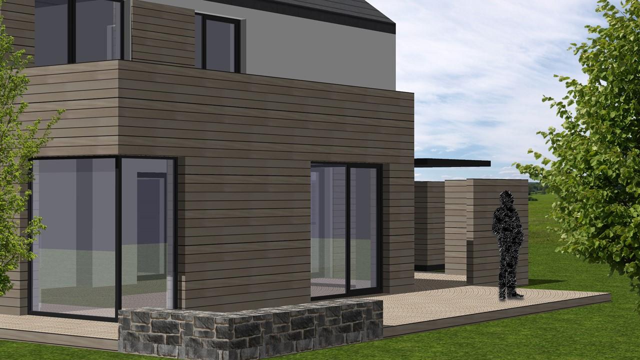 entwurf eines einfamilienhauses in l beck marg miske. Black Bedroom Furniture Sets. Home Design Ideas